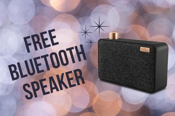 Free Bluetooth Speaker actie