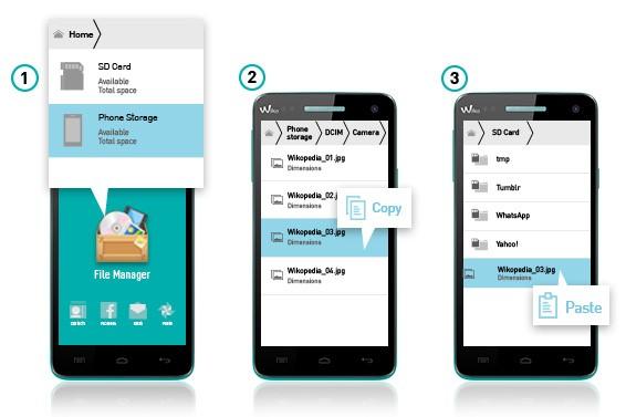 Multimedia-Dateien auf die SD-Karte verschieben