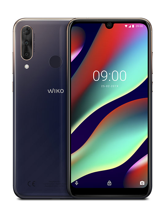 VIEW3 PRO - 128 GB+6 GB displayed from front and back view