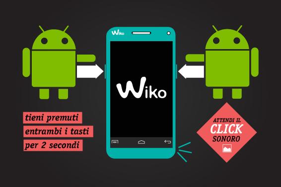 Come si fa uno screenshot con il mio WIKO?