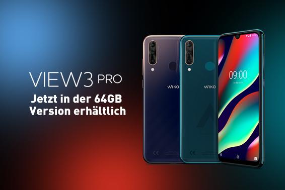 WIKO VIEW3 PRO 64 GB: Smartphone mit Dreifach-Kamera und künstlicher Intelligenz jetzt auch unter 250 Euro erhältlich