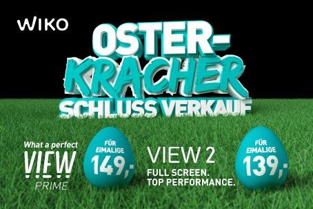 Wiko Osterkracher zum Knaller-Preis: Wiko View Prime und Wiko View2 ab 139 Euro