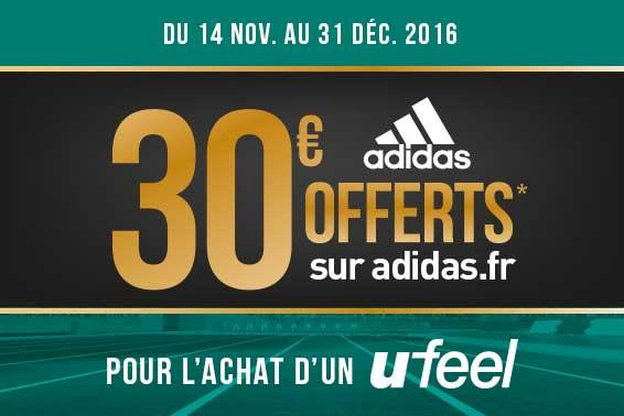 Ufeel : 30€ offerts sur adidas.fr