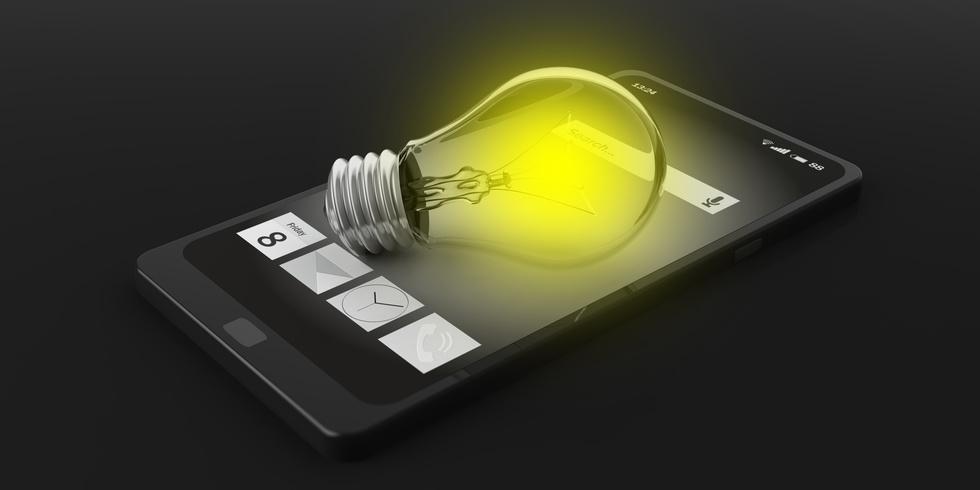 Des LED pour contrôler l'écran d'un smartphone ?