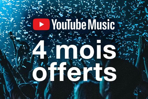 4 mois offerts à YouTube Music Premium