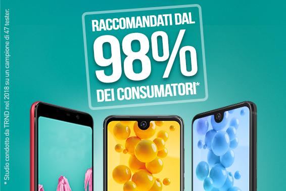 Wiko: raccomandato dal 98% dei consumatori