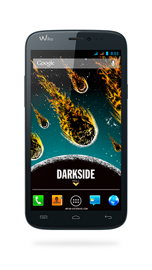 DARKSIDE displayed from front and back view