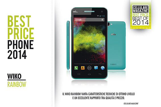 RAINBOW vince il Best Price Award di Cellulare Magazine