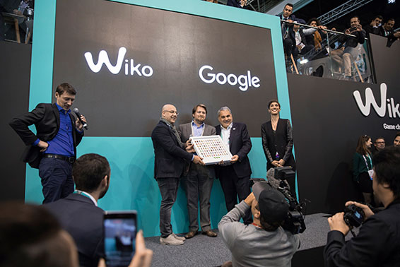 Wiko、Googleから賞を授与