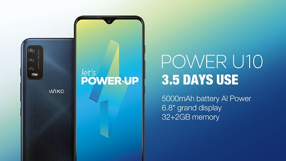 WIKO POWER U10 (NEW). 1-CHARGE. 3.5-DAYS USE.