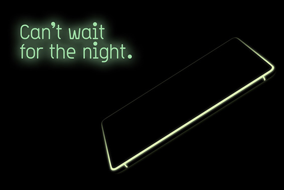 The glow-in-the-dark smartphone