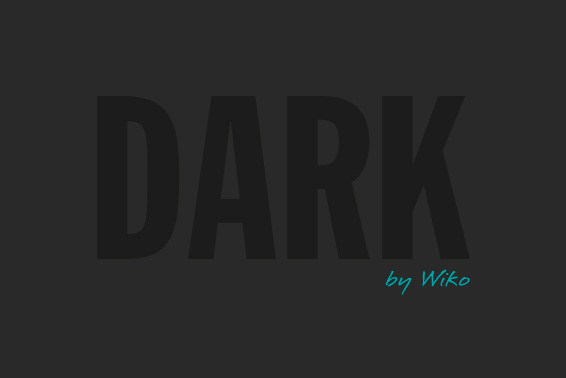 The new design by Wiko: Dark is dark!
