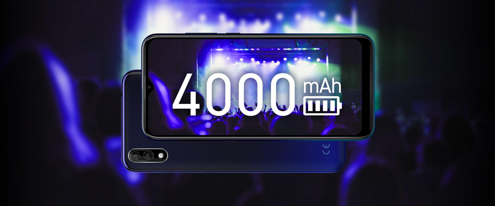 Animação de carregamento da bateria até 4000mAh