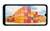 focus sur l'écran large du Y62 Plus montrant une photo avec des conteneurs