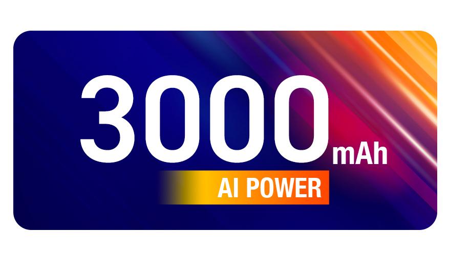 3000 mAh AI Power