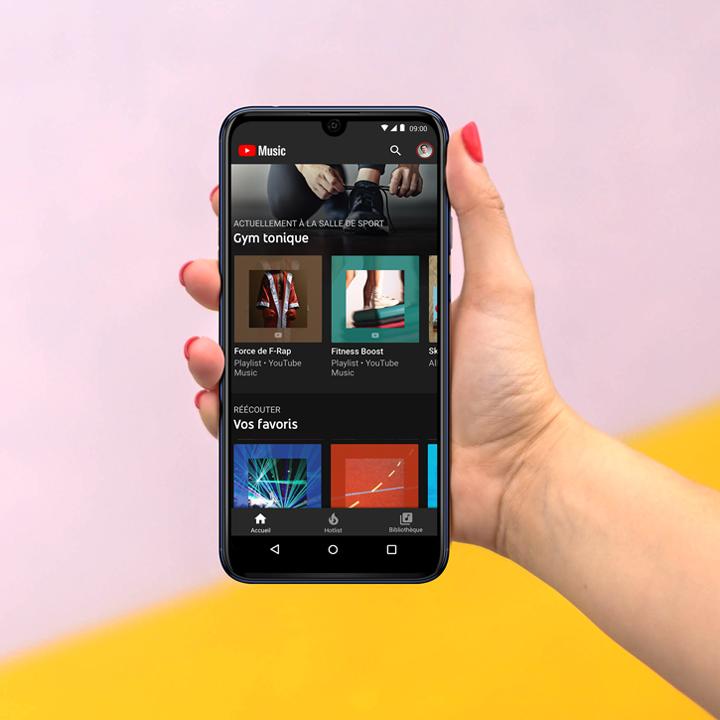 écran avec playlist music